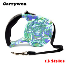 Carrywon 5M Top Quality Dog lead Retractable Dog Leash Pet Traction Rope Chain Harness Dog collar Automatic Adjustable