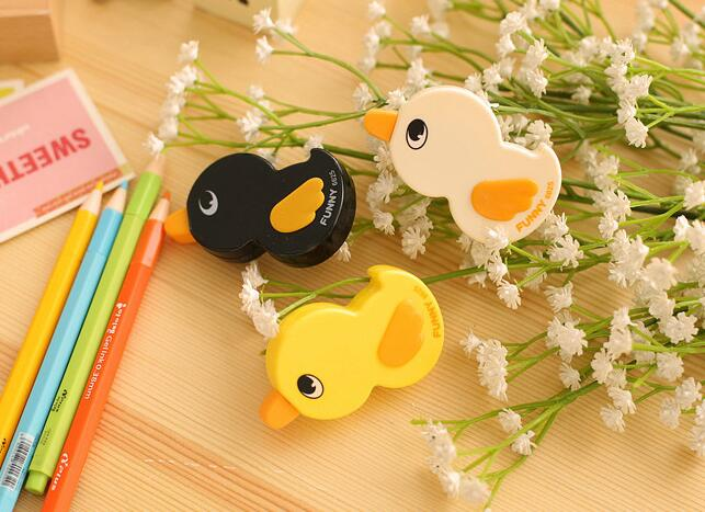 12pcs / Lot , Duck Correction Tape , Cartoon Animal Correction Tape To Correct Mistakes For Students