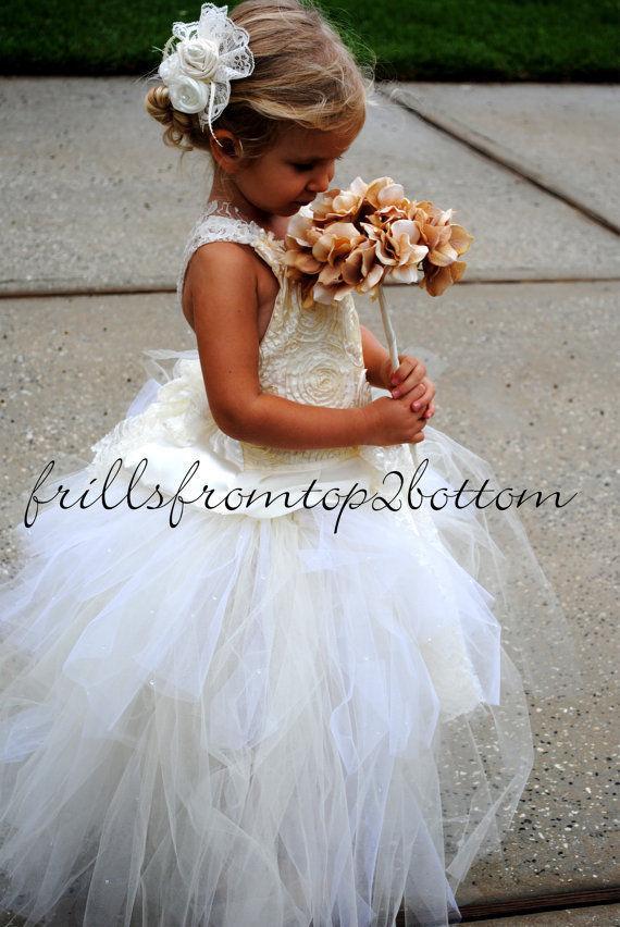 Best Design Fashion Sweet White Precious Net Criss-Cross Sleeveless   Flower     Girl     Dress   Made Any Size Flowergirl   Dresses