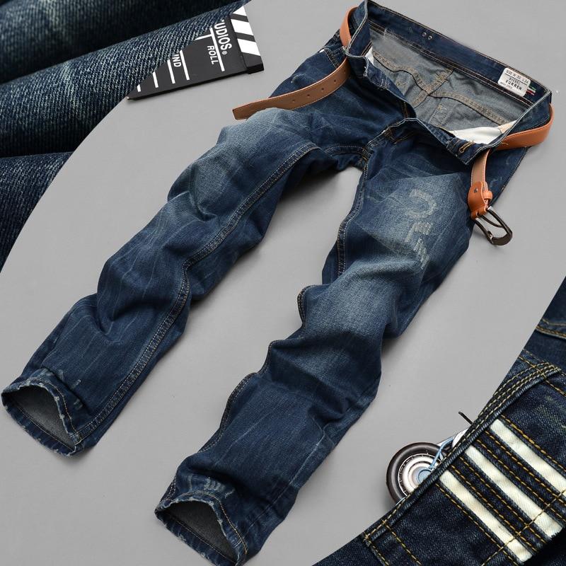 100% Cotton Jeans For Men Plus Size 2017 Famous Brand Men Jeans High-grade Designer Straight Jeans Men Casual Pants