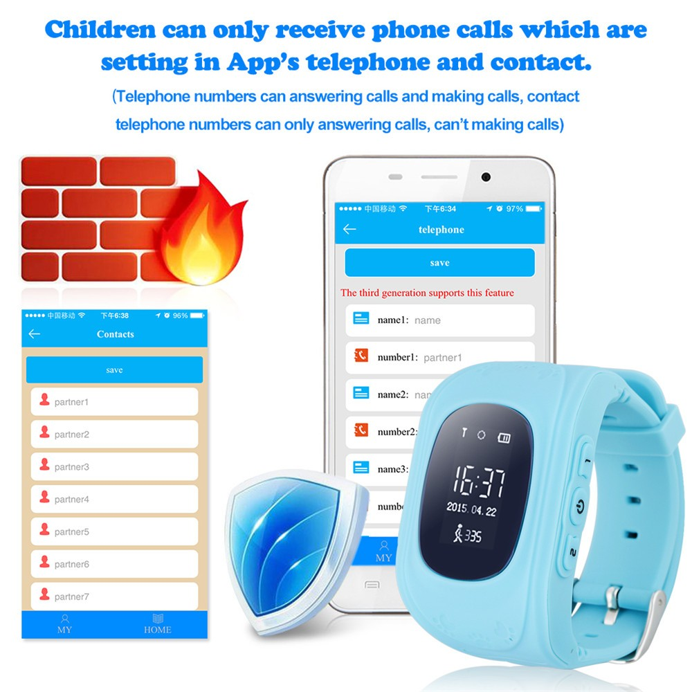 2016 Smart Kid Safe GPS Watch Wristwatch SOS Call Location Finder Locator Tracker for Kid Child Anti Lost Monitor Baby Gift Q5023
