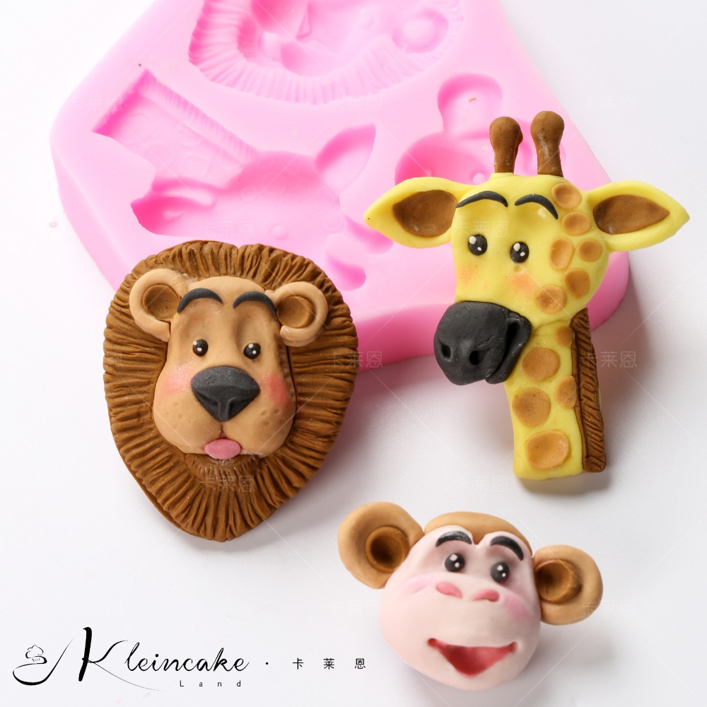 Yueyue Sugarcraft animal boy birthday silicone molde do bolo fondant molde ferramentas de decoração do bolo de chocolate goma colar molde de argila molde
