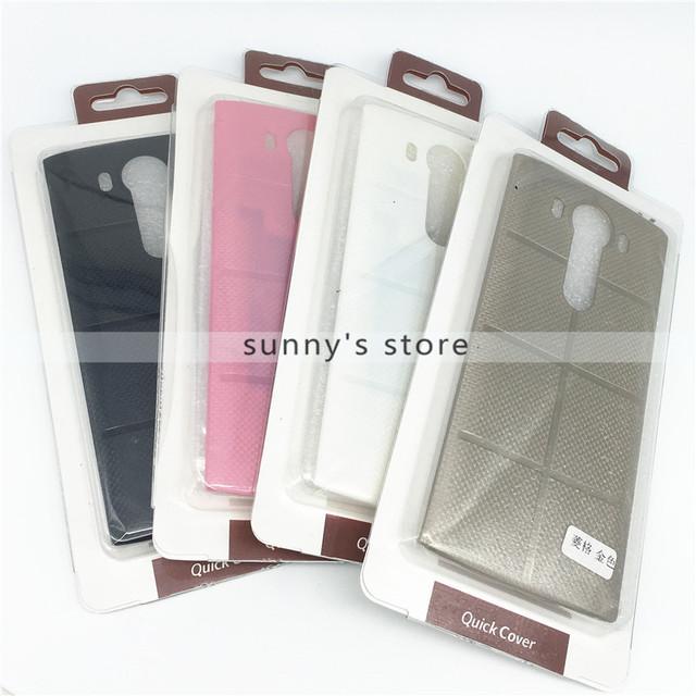 Para LG V10 Genuine Caso Da Grade de Plástico de Volta Da Bateria Habitação com Qi de Carregamento Sem Fio NFC