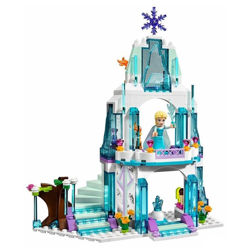 The Best Gift for Kids Girls DIY Dream Castle Princess Elsa Building Blocks Children Educational Assembling