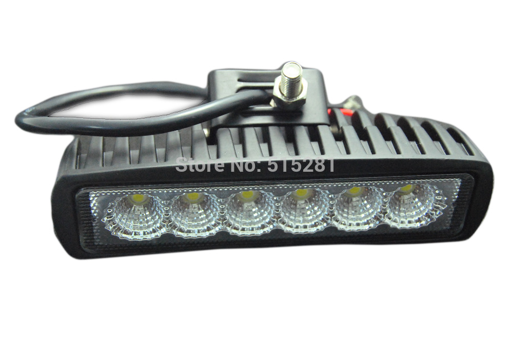 20PCS LED Truck Light Bar for Indicators Motorcycle Driving Offroad Boat Car Tractor Spot Lamp DC 12V 6 Inch 18W
