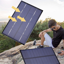 Amzdeal  Portable 1.9W DC5V Polycrystalline Solar Panel Battery Charger DIY 142x88mm Portable Emergency power Cells