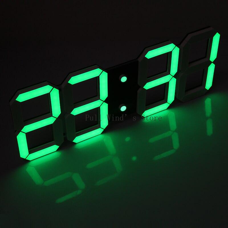 Super grande taille numérique électronique horloge murale moderne mode LED horloge électronique salon usb horloges
