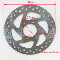 Disc Brake Plate 140mm 37mm With 6 Mounting Hole For Electric Scooter E Bike