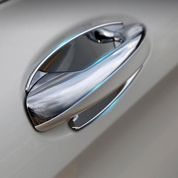 ABS Chrome Car Side Door Handle Cover Trim Sticker For Mercedes Benz GLC Class X253 GLC200 GLC250 GLC300 2016 Door Handle Bowl image