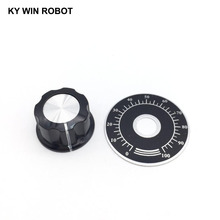 1 set MF-A03 Potentiometer Knob Cap 6mm copper core with 0-100 WTH118 potentiometer knob scale digital scale цены