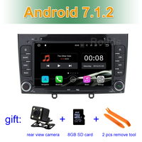 2 GB RAM 1024*600 Android 7.1.2 Car DVD Player Multimedia Stereo for peugeot 408 308 308SW with Radio WiFi Bluetooth GPS