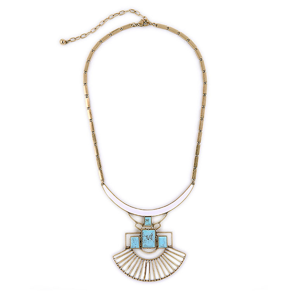 XQ Free shipping The new fashion Retro alloy removable hollow out the fan pendant necklace