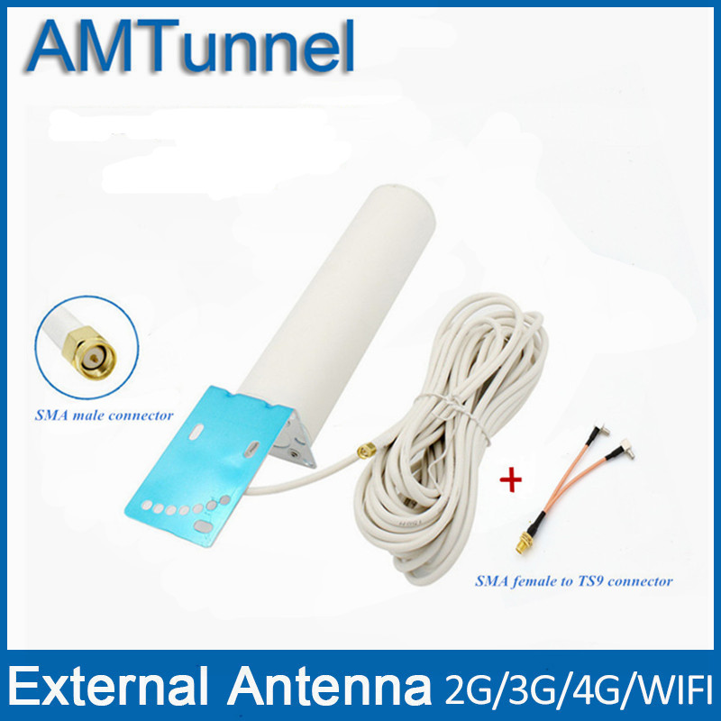 4G antenne 4G LTE externe antennna 3G antenne SMA mâle with10m câble et SMA femelle à TS9 connecteur pour 3G 4G routeur modem