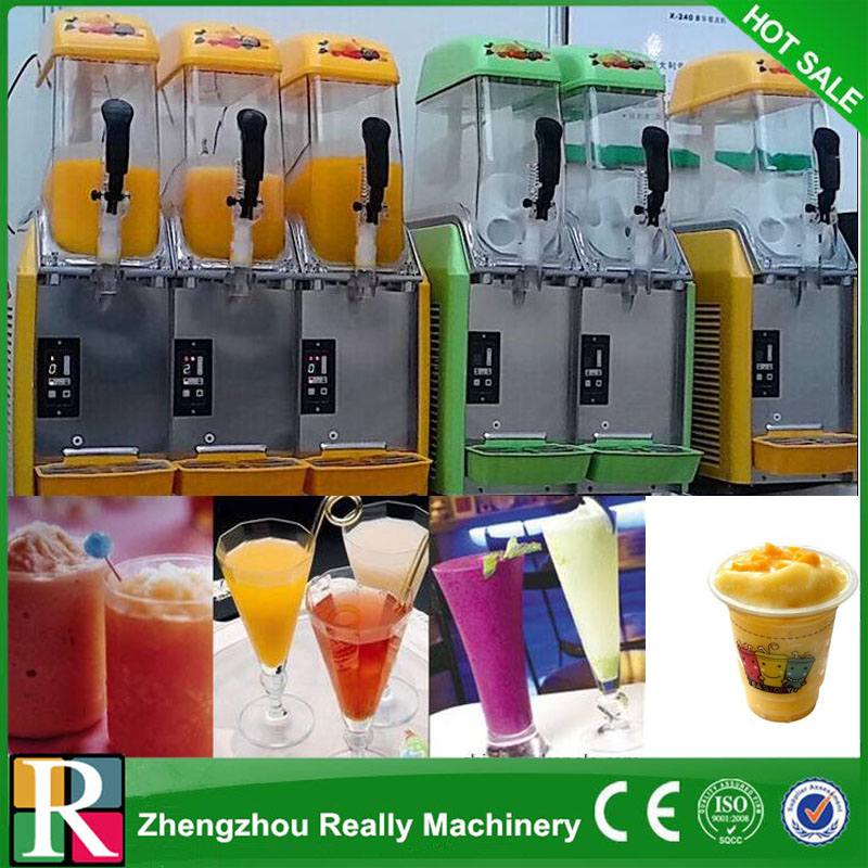 Red Commercial 2 Tank Frozen Drink Slush Slushy Making Machine Smoothie Maker