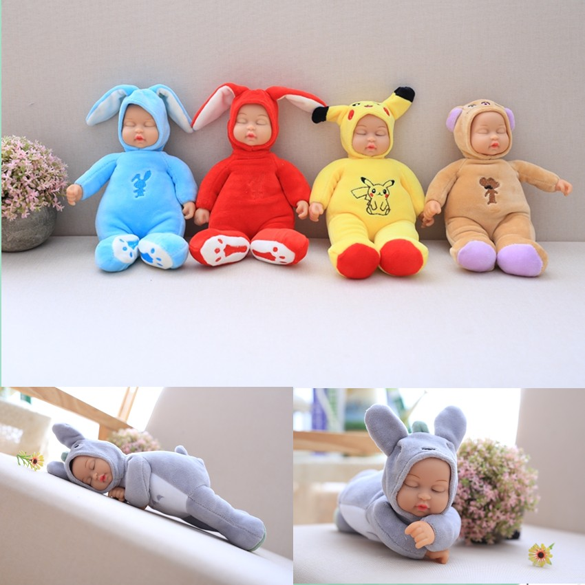 9 styles Baby Doll Reborn Doll Toy For Kids Appease Accompany Sleep Cute Vinyl Doll Plush Toy Girl Baby Gift Collection
