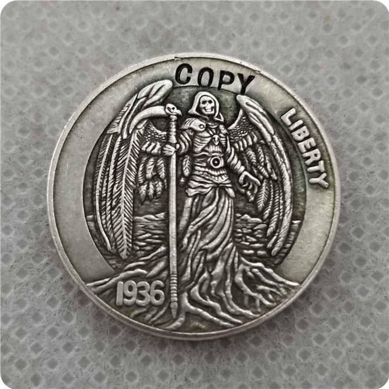 Hobo Nikkel Coin_Type # 54_1936-D BUFFALO NICKEL kopie munten herdenkingsmunten collectibles