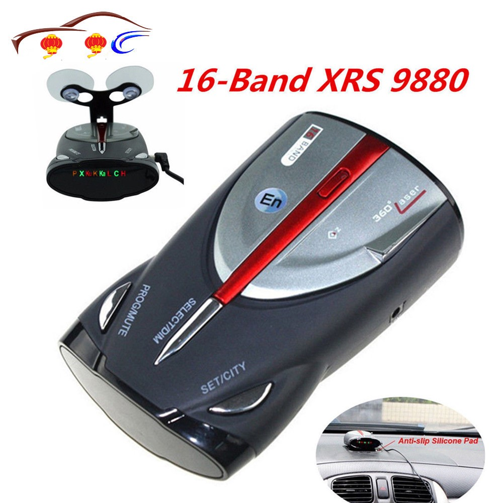 2020 12 v 16-band cobra xrs 9880 detector de carro, laser anti radar, 360 anjo, display led, suporta inglês e voz russa