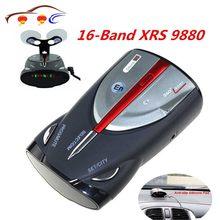 2021 12v 16-band cobra xrs 9880 laser anti radar detector de carro 360 anjo display led suporte voz inglês e russo