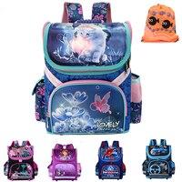 NEW 2016 Children School Bags Kids Butterfly Car Boys School Backpack Girls Orthopedic Waterproof EVA Schoolbag