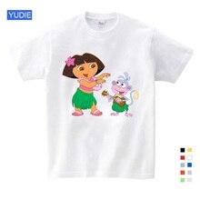 2019 Children Brand New T Shirt Dora Sweet Girls Lovely Style Infant / Baby Cute Cartoon The Girl Scout Summer Tops