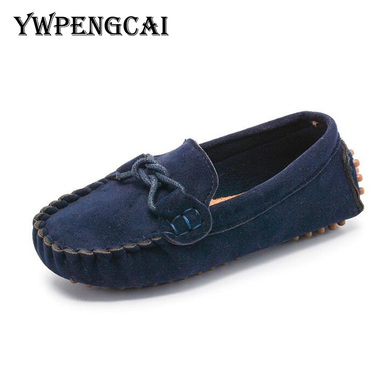 Size 21-35 Children Shoes Soft PU Leather Boys Loafers Girls Moccasins Shoes Flexible Toddler Shoes Spring Autumn Boys Shoes
