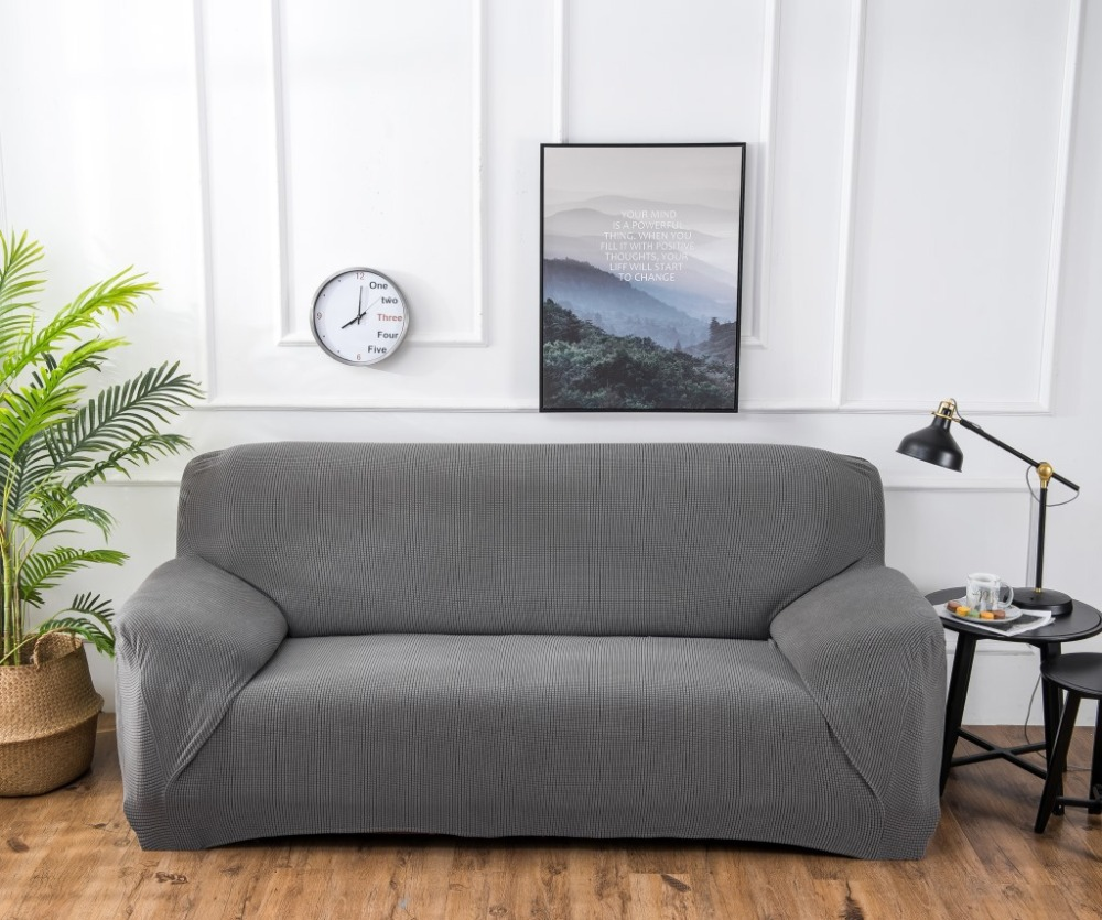 Slipcovers Sofa Cover Towel Single/Two/Three/Four-seater Couch Solid Color Dawegama