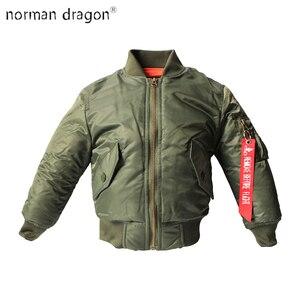 Image 1 - 2 12 yesars Children Clothes 2018 Winter Jackets For Boys Coat Kids Warm Ma 1 Bomber Flight Outerwear Coat Baby Jacket Clothing