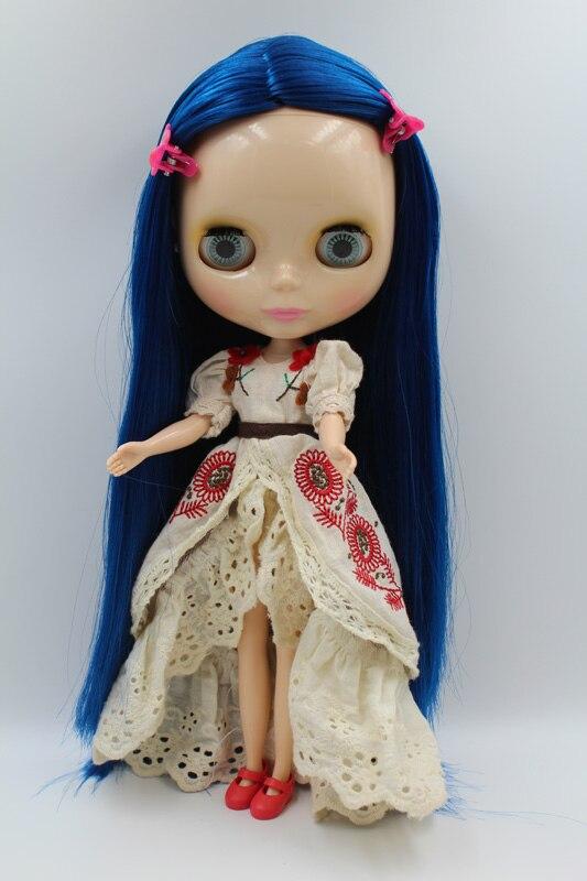 Free Shipping big discount RBL-291DIY Nude Blyth doll birthday gift for girl 4colour big eyes dolls with beautiful Hair cute toy