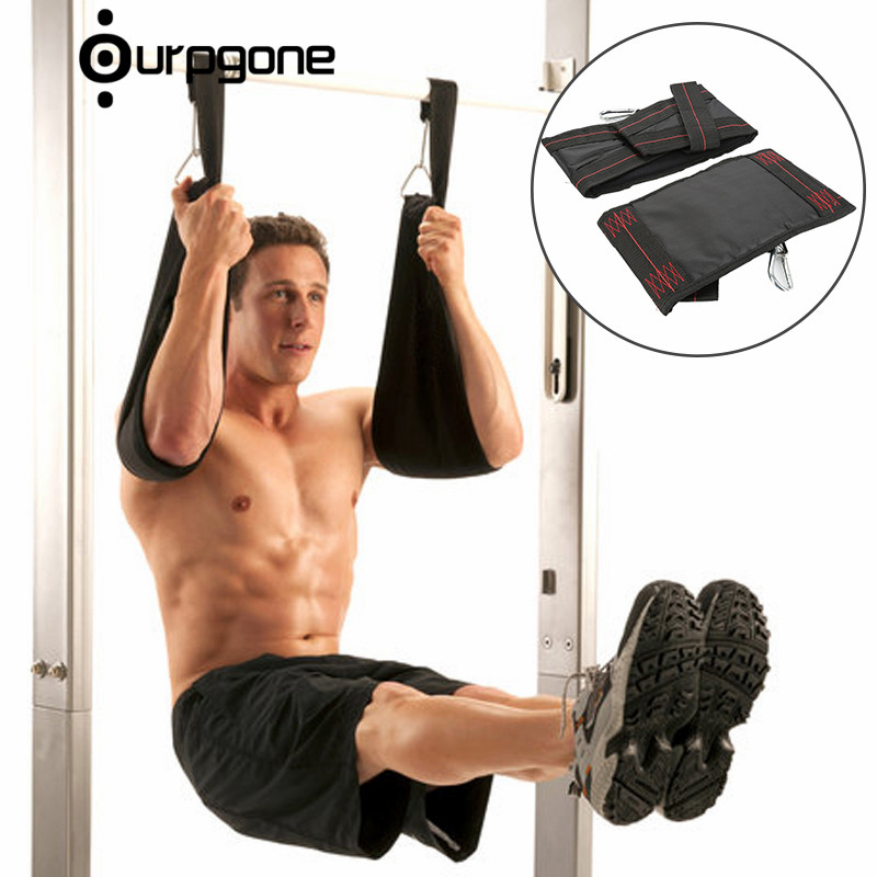 Home Fitness 2pc Sling Straps Abdominal Carver Hanging Belt Chin Up Sit Up Bar Pullup Heavy Duty Muscle Training Suspension Belt