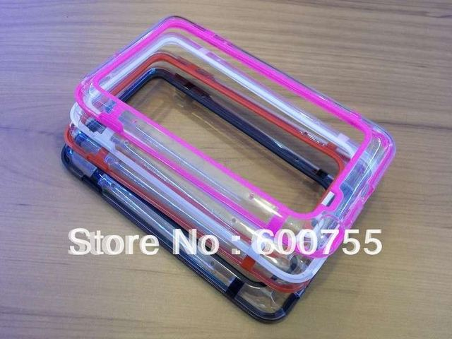 500pcs Double Color TPU Bumper Frame  for Samsung Galaxy Note i9220 N7000 with retail package