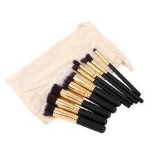 10 Pcs Professional Makeup Brushes Set Make up Brushes Cosmetic Eyeshadow Face Powder Foundation Lip Brush