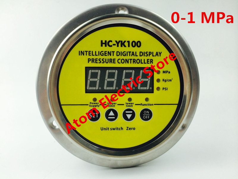 AC220V 0-1 mpa Digital display electric contact pressure gauge digital controller dmx512 digital display 24ch dmx address controller dc5v 24v each ch max 3a 8 groups rgb controller