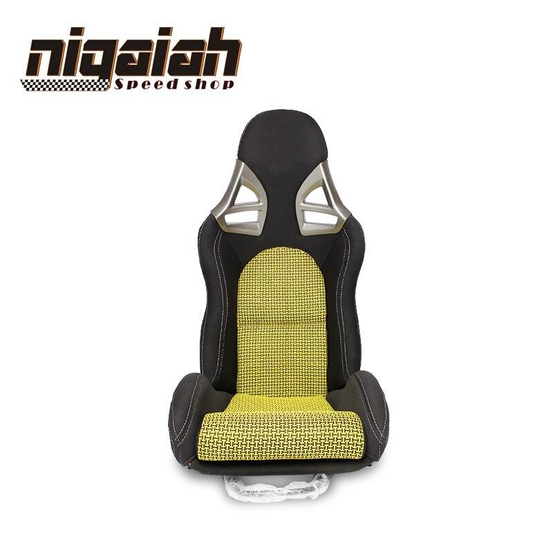 2 PCS/LOT siège réglable et inclinable OEM SPE siège de voiture de course Sport tissé jaune nouveau siège de dérive de style de voiture pour Porsche