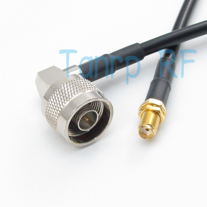 Freeshipping!   N male plug Rigjht Angle  to SMA female jack 200CM RG58 RF Pigtail coaxial  jumper cable 6feet Wholesale dhl ems 5 sets cable n male plug to n female jack straight ksr195 jumper pigtail 9m h2