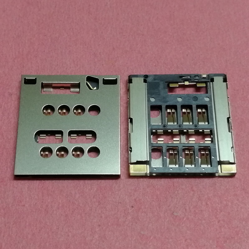 50pcs SIM Card Reader Slot tray Holder Connector For Sony Xperia Acro S LT26W LT28 LT28I LT28H Socket plug