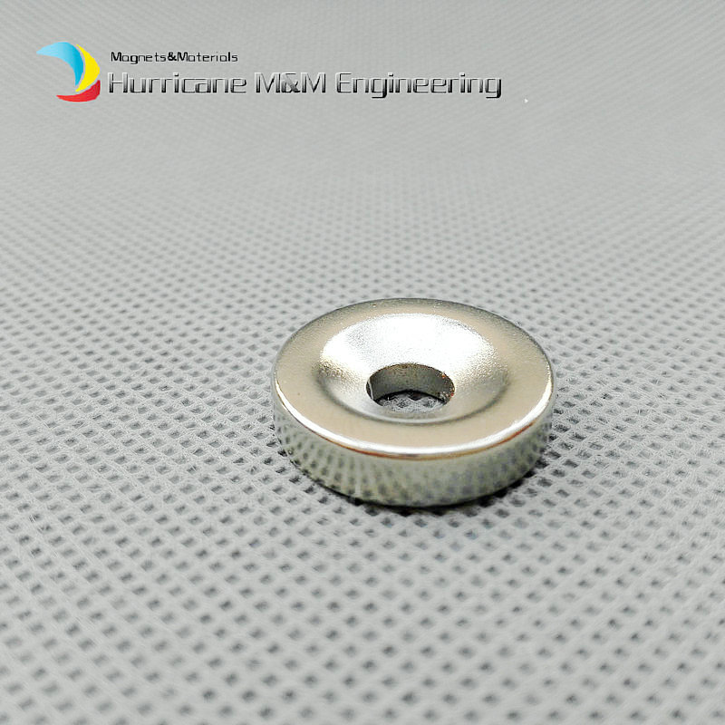 1 pack Grade N42 NdFeB Disc Countersunk Magnet OD 20x5 mm thick M4 screw Neodymium Rare Earth Permanent Magnet NiCuNi Plated