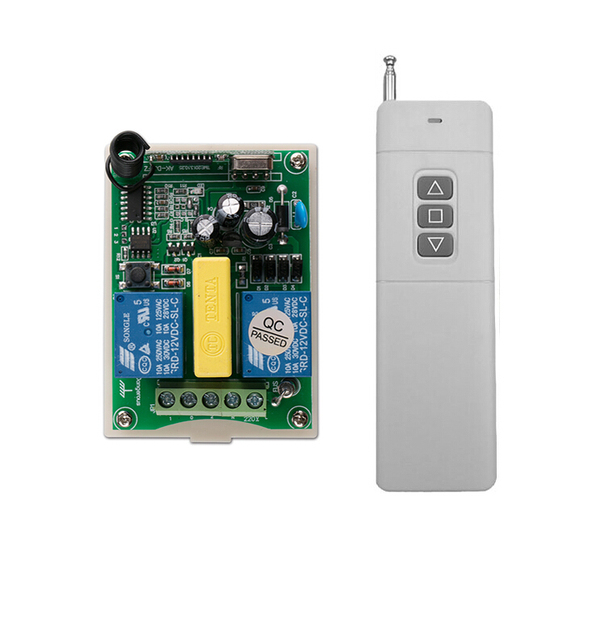 hot Garage door controller AC 220 V 2 CH RF Wireless Remote Control Receiver with Transmitter  sc 1 st  AliExpress.com & hot Garage door controller AC 220 V 2 CH RF Wireless Remote Control ...