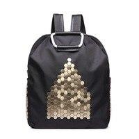 Punk New Black Purple House Rivets Women's Shoulder Bag Bag Leisure Bag Travel Backpack College Wind Ring