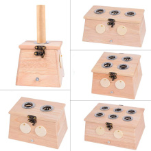 SHARE HO Bamboo Moxibustion Box Chinese Moxa Sticks Rolls Holder Heating  Acupuncture Point Meridian Warm Therapy Burner share ho 30pcs moxa artemisia tube self stick chinese moxibustion stickers therapy heating acupuntura point warm meridian