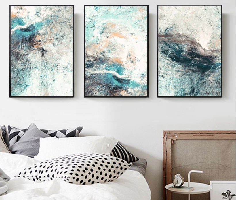 Modern Simplicity of Abstract Canvas Paintings Modular Pictures Wall Art Canvas for Living Room Decoration No Modern Simplicity of Abstract Canvas Paintings Modular Pictures Wall Art Canvas for Living Room Decoration No Framed
