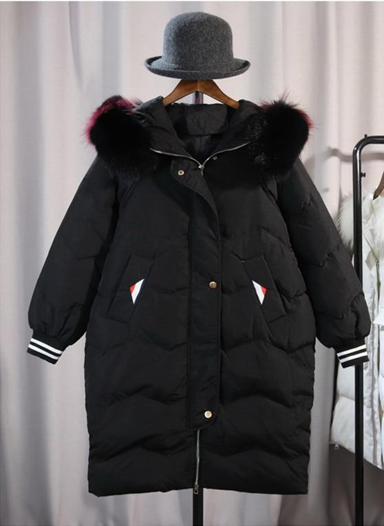 Chaud Col Femmes Survêtement Noir Hiver Fourrure blanc Manteau Le Vers Fausse Bas Veste Capuchon Parka Noir À Blanc De En qzFdwF