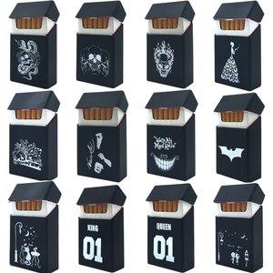 New Exclusive Fashion Style Hold 20 Silicone Cigarette Case Fashion Cover Elastic Rubber Portable Man/Women Cigarette Box Sleeve