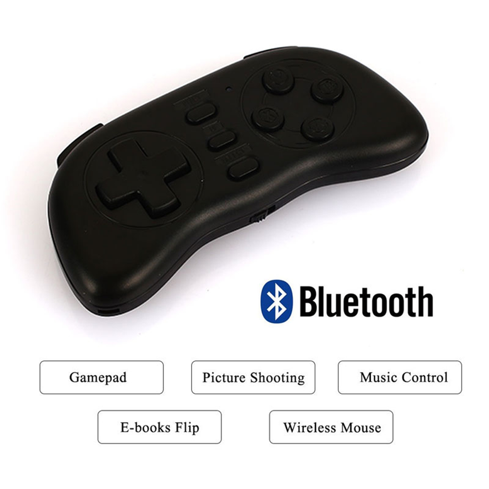 Gasky Mini Bluetooth Handle Joystick Wireless VideoGame Controller Gamepad for PC/Smart TV/IOS/Android Gift