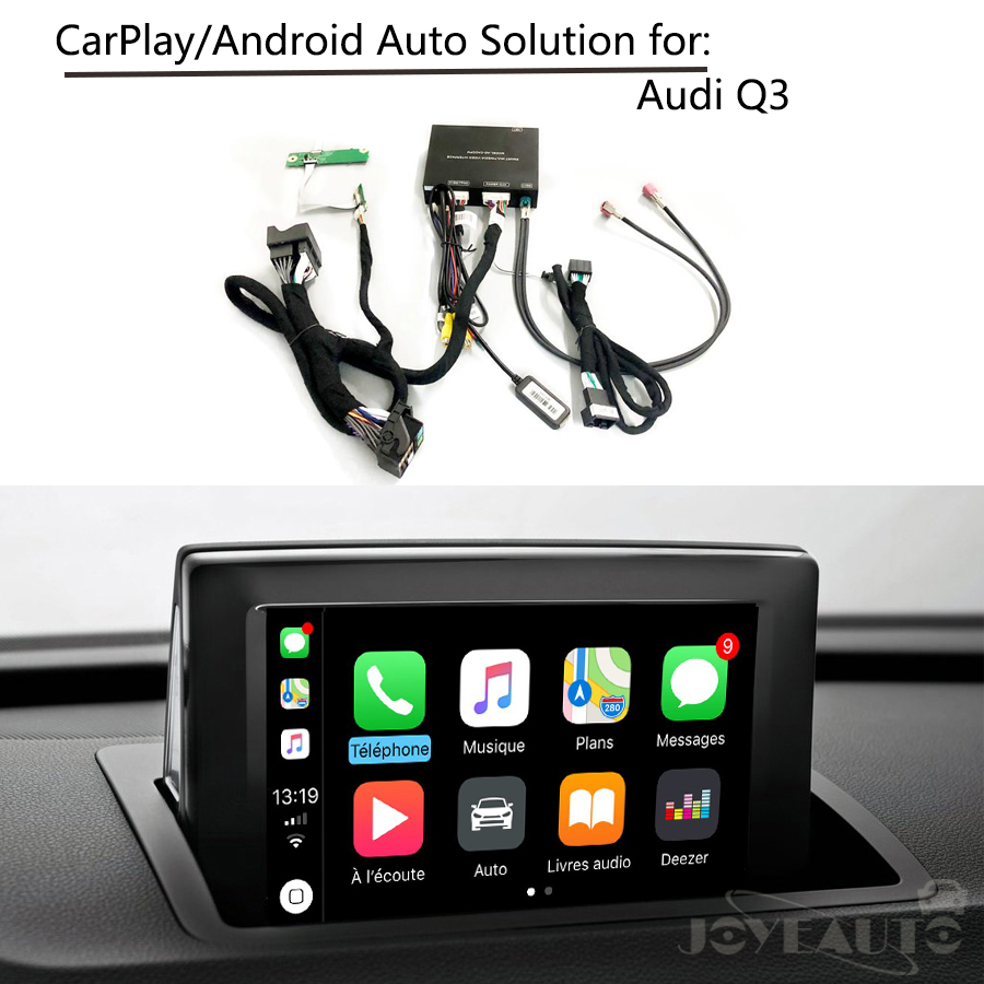 US $343 65 13% OFF|Car multimedia Aftermarket Integration Q3 Low MMI OEM  Apple Carplay Android Auto Retrofit Solution Box IOS Airplay for Audi-in TV