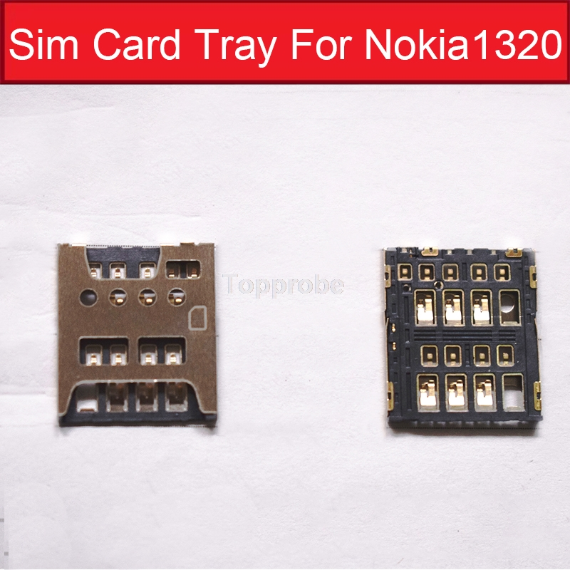 100% new Genuine Sim Card tray For <font><b>Nokia</b></font> <font><b>1320</b></font> Sim Card slot For Microsoft Lumia <font><b>1320</b></font> Sim card reader holder reader adapter <font><b>parts</b></font> image