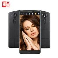 סמארטפון LG V10 4 GB RAM 64 GB ROM 5.7 ''אוקטה Core אנדרואיד 5.1 LTE 4 גרם טלפונים סלולרי חכם כרטיס ה-SIM בודד 2560*1440 טביעת אצבע