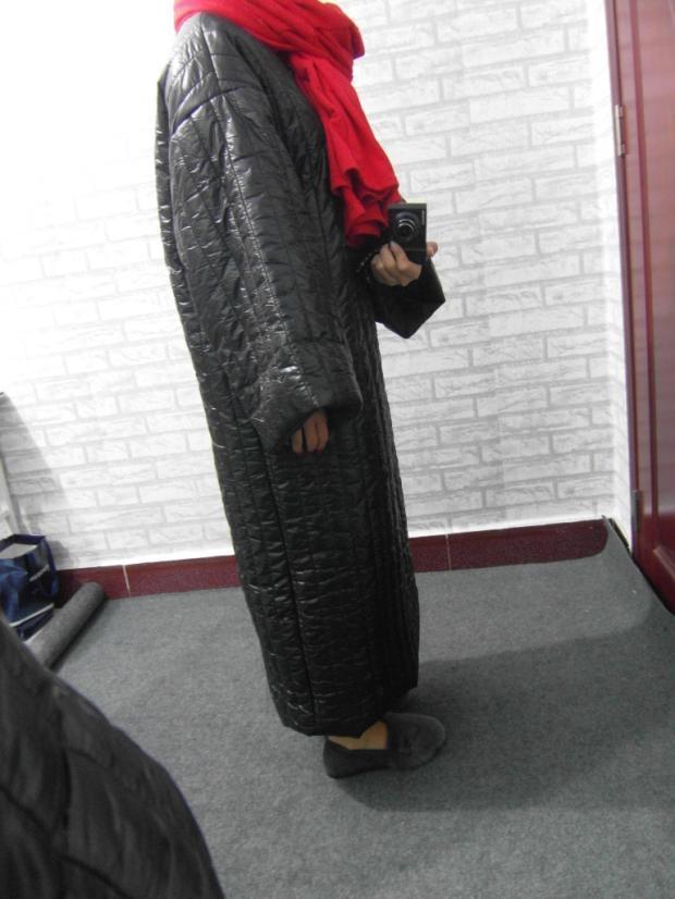Nouveau 2019 Mode eam Col Lâche Jg584 Printemps Coton À Marée Manches rembourré Femmes Noir Rond Long De Longue Longues Robe Grande Chaud Pour Taille d51qFwW1v