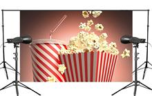 Warm Tones Background Popcorn with Cola Backdrop Studio Props Wall 150x220cm Childrens Paradise