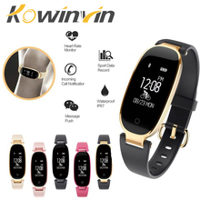 Bluetooth Kalis Air S3 Smart Watch Fesyen Wanita Ladies Heart Rate Monitor Monitor Tracker Smartwatch Mujer Untuk Android IOS