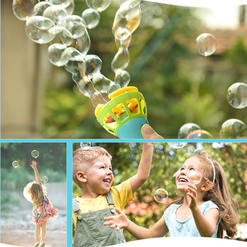 Summer Funny Magic Bubble Blower Machine Bubble Maker Mini Fan Kids Outdoor Develop Kids Imagine Fun Toy Cherryb Soft And Light
